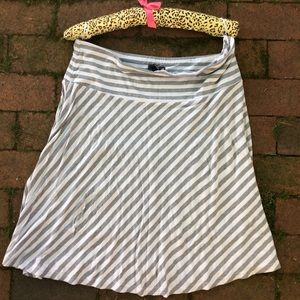 Gray and White striped skirt